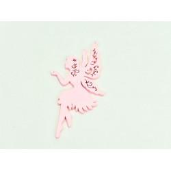 Ξύλινη νεράιδα ροζ 12x6.7cm