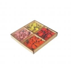 Ξύλινες διακοσμητικές πασχαλίτσες 200τμχ- 4 χρωμάτων
