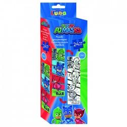Παζλ χρωματισμού pj masks 24 τμχ