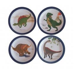 Πιάτο party 23εκ. δεινόσαυροι 8τμχ