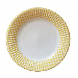 Πιάτο Party 20 cm- Σχέδιο κίτρινο