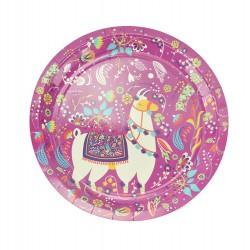 Πιάτο χάρτινο party 23 cm - Σχέδιο Λάμα 6τμχ