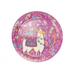 Πιάτο χάρτινο party 18 cm - Σχέδιο Λάμα 6τμχ