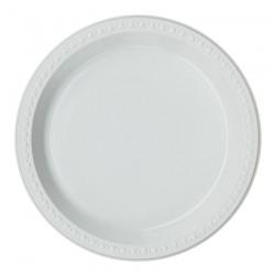 Πιάτο από ζαχαροκάλαμο  λευκό μιας χρήσης 26 cm