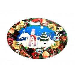 Δίσκος οβάλ χριστουγέννων 41x31 cm