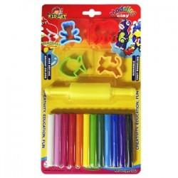 Πλαστελίνη 12 χρώματα και κουπατ