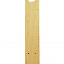 Ξύλινη πλάτη για λαμπάδα 7.5x35cm - χάρακας