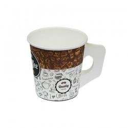 Ποτήρι χάρτινο ελληνικού καφέ μιας χρήσης με χερούλι  4oz