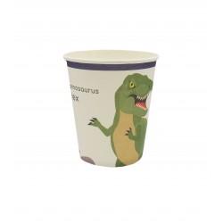 Ποτήρι Party χάρτινο 250ml δεινόσαυροι 8τμχ