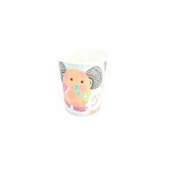 Ποτήρι χάρτινο 250ml ελεφαντάκι 6τμχ