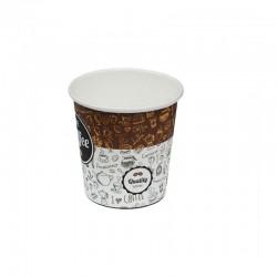 Ποτήρι χάρτινο ελληνικού καφέ μιας χρήσης 4oz