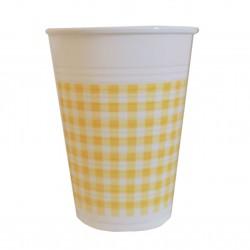 Ποτήρι πλαστικό 200ml - Σχέδιο κίτρινο