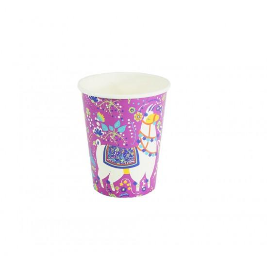 Ποτήρι χάρτινο 250ml λάμα 6τμχ