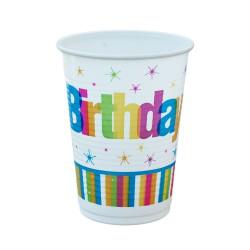 Ποτήρι Party πλαστικό 200ml - Σχέδιο Happy Birthday