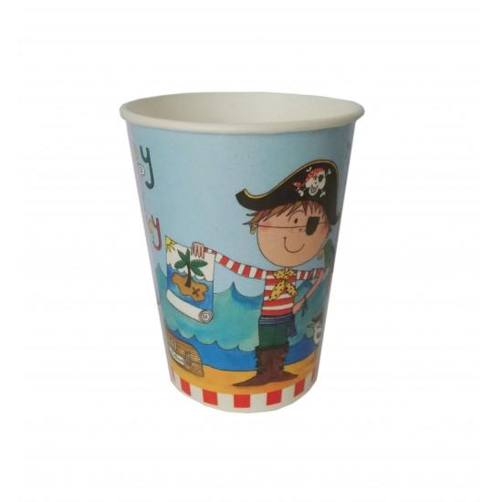 Ποτήρι Party χάρτινο 200ml - Σχέδιο Πειρατής