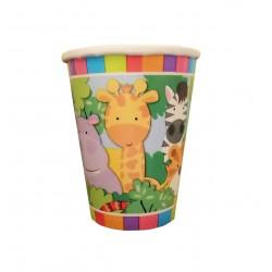 Ποτήρι Party χάρτινο 266ml - Σχέδιο Ζώα Ζούγκλας