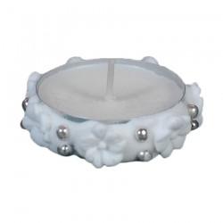 Ρεσώ διακοσμητικό για δίσκο μνημοσύνου λουλουδάκια λευκά