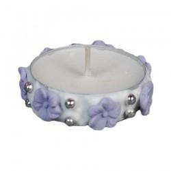 Ρεσώ διακοσμητικό για δίσκο μνημοσύνου λουλουδάκια μωβ