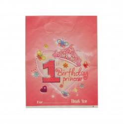 Tσάντα πλαστική δώρου ροζ -10 τεμαχίων 17x22 εκ.