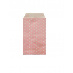 Σακουλάκι χάρτινο 8x15εκ.- ροζ πουά