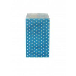Σακουλάκι χάρτινο 8x15εκ.- μπλε πουά