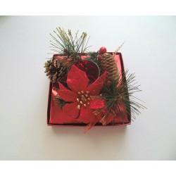Σύνθεση χριστουγεννιάτικη-κόκκινο χρώμα