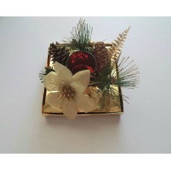 Σύνθεση χριστουγεννιάτικη-χρυσό χρώμα