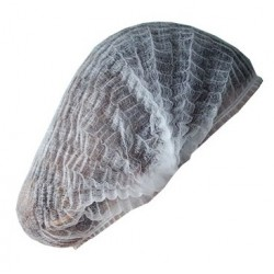 Σκουφάκι λευκό μιας χρήσης από non woven, 100 τεμαχίων