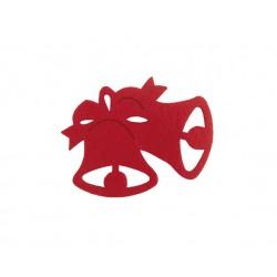 Σουβέρ τσόχινο σχέδιο καμπάνα 11.5x9.4 cm