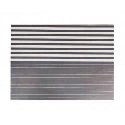 Σουπλά χάρτινο 40x30 cm- ανθρακί λωρίδες