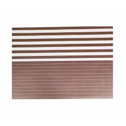 Σουπλά χάρτινο 40x30 cm- καφέ λωρίδες
