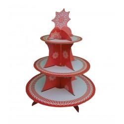 Σταντ  γλυκών χριστουγεννιάτικο  άσπρο-κόκκινο