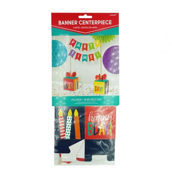 Διακοσμητικό τραπεζιού Birthday Rainbow 35.5 εκ