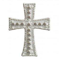 Σταυρός διακοσμητικός για δίσκο μνημοσύνου σχέδιο φακή 9.5x12.5 cm