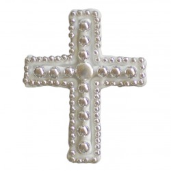 Σταυρός διακοσμητικός για δίσκο μνημοσύνου σχέδιο φακή 6.5x8.5 cm