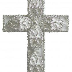 Σταυρός διακοσμητικός για δίσκο μνημοσύνου σχέδιο φυλλαράκι 13.5x18.5 cm