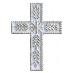 Σταυρός διακοσμητικός για δίσκο μνημοσύνου σχέδιο κριθαράκι 13.5x18.5 cm