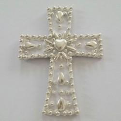 Σταυρός διακοσμητικός για δίσκο μνημοσύνου σχέδιο αμύγδαλο 9.5x12.5 cm