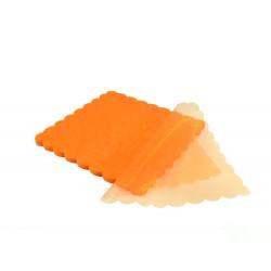 Τούλι οργάντζα συννεφάκι πορτοκαλί 24x24cm 100τμχ