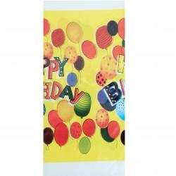 Τραπεζομάντηλο πλαστικό για party 1.08 x 1.80 m - σχέδιο κίτρινο