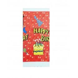 Τραπεζομάντηλο πλαστικό για party 1.08 x 1.80 m - σχέδιο κόκκινο
