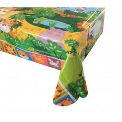 Τραπεζομάντηλο πλαστικό 1.2x1.8m - Σχέδιο ζώα ζούγκλας