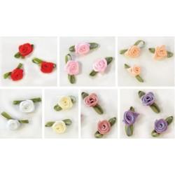 Λουλουδάκια υφασμάτινα 15mm 10τμχ