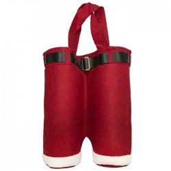 Τσάντα τσόχινη 2 ποτών Άγιος Βασίλης 25x37cm