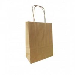 Τσάντα - σακούλα χάρτινη kraft - κραφτ 25x12x37 εκ.- στριφτή λαβή