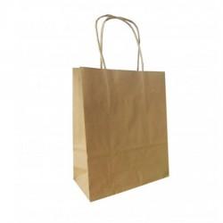 Τσάντα - σακούλα χάρτινη kraft - κραφτ 32x12x41 εκ.- στριφτή λαβή