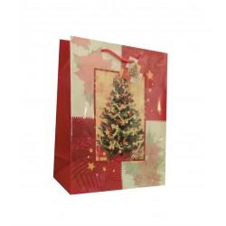 Τσάντα χάρτινη (σακούλα) δώρου 26x12x33 cm σχέδιο δέντρο