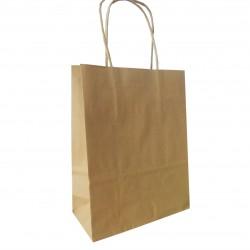 Τσάντα - σακούλα χάρτινη kraft - κραφτ  18x8x23 εκ.- στριφτή λαβή