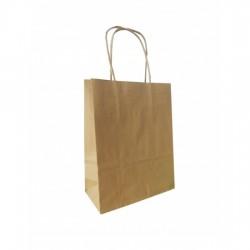 Τσάντα - σακούλα χάρτινη kraft - κραφτ  25x12x31 εκ.- στριφτή λαβή