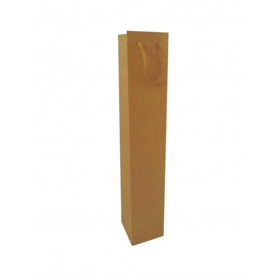 Τσάντα χάρτινη (σακούλα) λαμπάδας kraft (κραφτ)  - 48.5x9x8cm